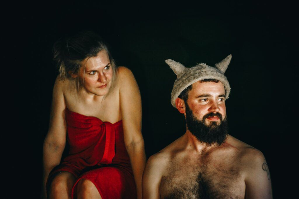 Woman-and-Bearded-Man