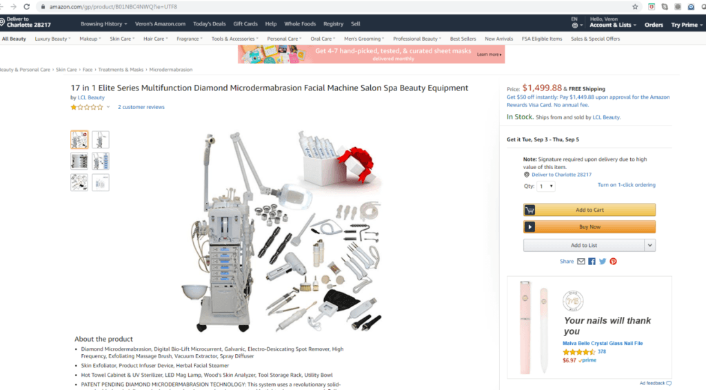 17-in-1-Facial-Machine-on-Amazon